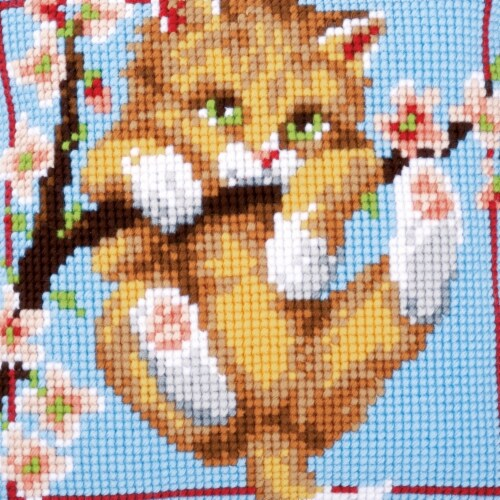 Vervaco V0148242 Cross Stitch Cushion Kit Perspective: front
