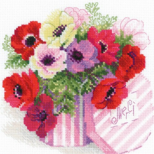 Riolis R1824 Merci -Counted Cross Stitch Perspective: front