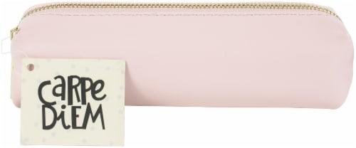 Carpe Diem Slim Pencil Case-Ballerina Pink Perspective: front