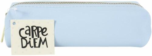 Carpe Diem Slim Pencil Case-Sky Blue Perspective: front