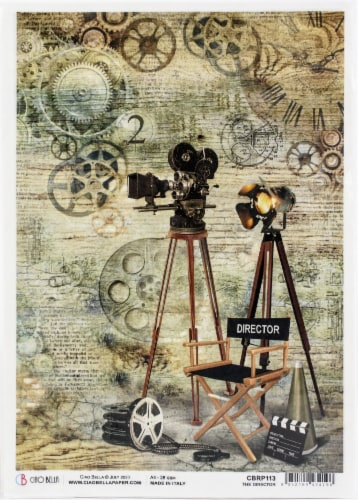 Ciao Bella Rice Paper Sheet A4 5/Pkg-The Director, Modern Times Perspective: front