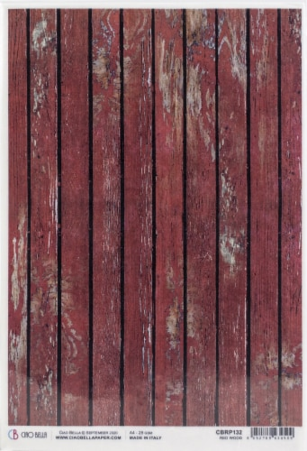 Ciao Bella Rice Paper Sheet A4 5/Pkg-Red Wood, Northern Lights Perspective: front
