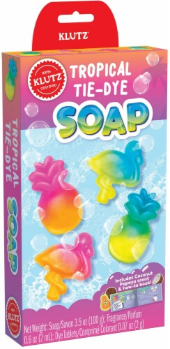 Mini Kits Tie-Dye Tropical Soaps- Perspective: front