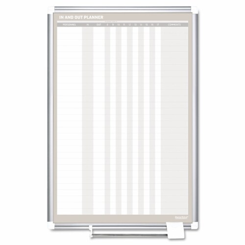 Mastervision In-Out Magnetic Dry Erase Board, 24x36, Silver Frame GA02109830 Perspective: front