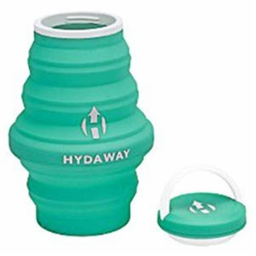 Hydaway 18 oz Collapsible Water Bottle, Mist Green Perspective: front
