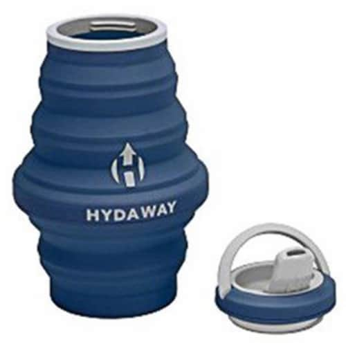 Hydaway 18 oz Collapsible Water Bottle, Seaside Blue Perspective: front