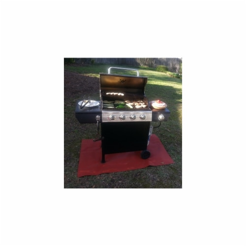 PyroProtecto 60 x 80 in. Grill Mat, Redwood Perspective: front
