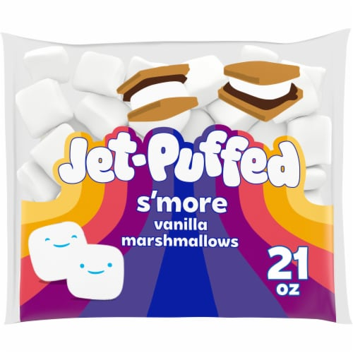 Jet-Puffed S'more Vanilla Marshmallows Perspective: front