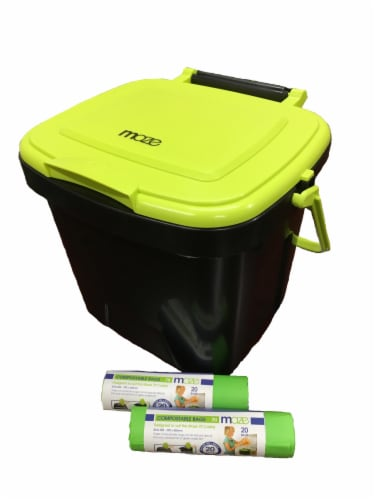 MAZE 1.85 Gallon Kitchen Caddie with MAZE Corn Bags Perspective: front
