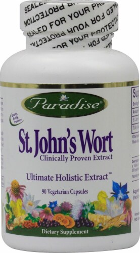 Paradise Herbs St. John's Wort Vegetarian Capsules Perspective: front