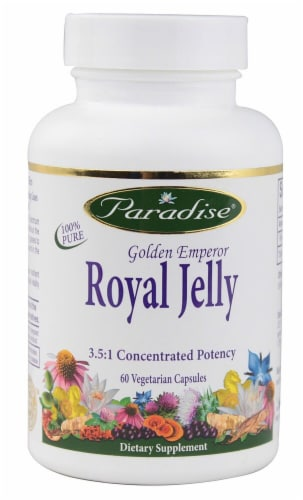 Paradise Herbs Golden Emperor Royal Jelly Vegetarian Capsules Perspective: front