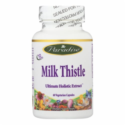 Paradise Herbs Milk Thistle Vegetarian Capsules Perspective: front
