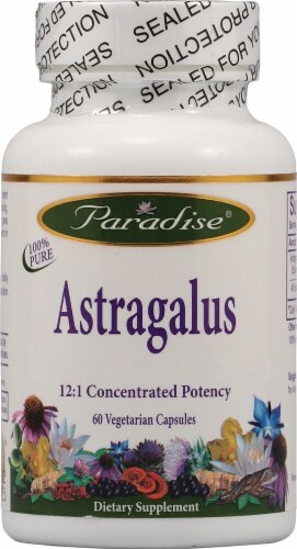Paradise Herbs Astragalus Vegetarian Capsules Perspective: front