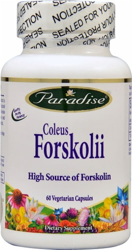 Paradise Herbs Coleus Forskolii Vegetarian Capsules Perspective: front