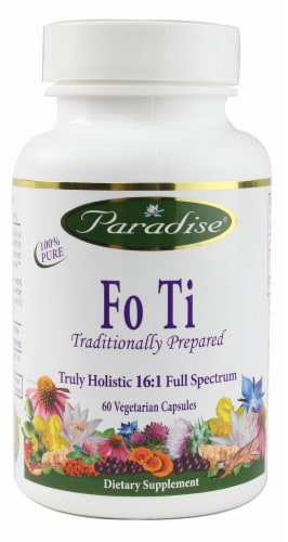 Paradise Herbs Fo Ti Vegetarian Capsules Perspective: front