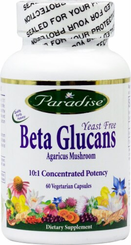 Paradise Herbs  Beta Glucans Yeast Free Perspective: front