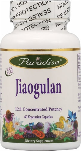 Paradise Herbs Jiaogulan Vegetarian Capsules Perspective: front