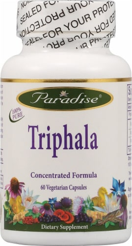 Paradise Herbs Triphala Vegetarian Capsules Perspective: front