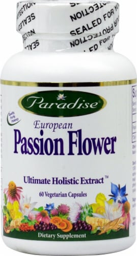 Paradise Herbs European Passion Flower Vegetarian Capsules Perspective: front
