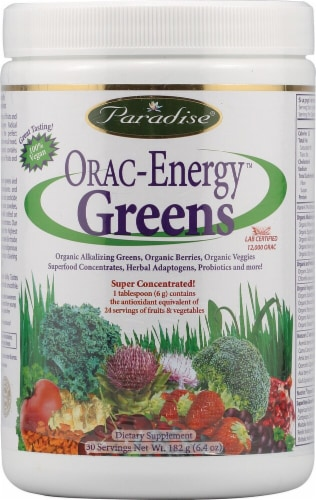 Paradise Herbs ORAC-Energy Greens Dietary Supplement Perspective: front