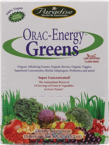Paradise Herbs ORAC-Energy Greens Dietary Supplement Packets Perspective: front