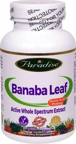 Paradise Herbs Banaba Leaf Vegetarian Capsules Perspective: front