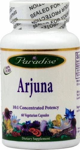 Paradise Herbs Arjuna Vegetarian Capsules Perspective: front