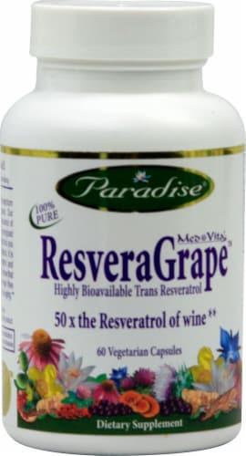Paradise Herbs Med-Vita ResveraGrape Vegetarian Capsules Perspective: front
