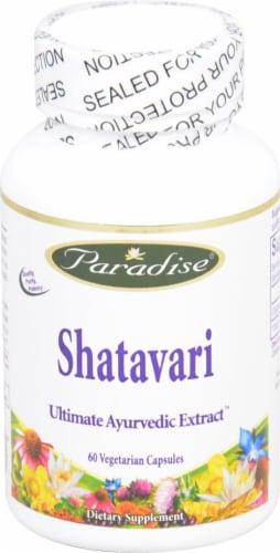 Paradise Herbs Shatavari Vegetarian Capsules Perspective: front