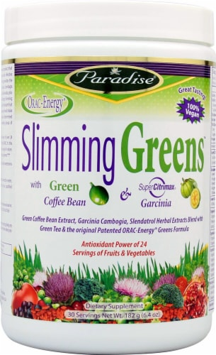 Paradise Herbs Slimming Greens Dietary Supplement Perspective: front