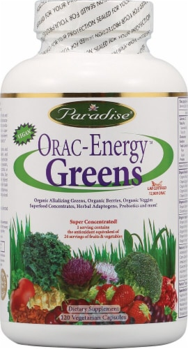 Paradise Herbs  Orac Energy Greens Perspective: front