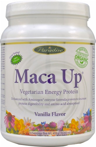 Paradise Herbs  Maca Pro™ Vegetarian Energy Protein   Vanilla Perspective: front