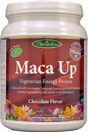 Paradise Herbs  Maca Up® Vegetarian Energy Protein   Chocolate Perspective: front