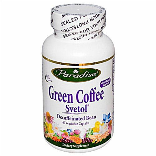 Paradise Herbs Green Coffee Svetol Vegetarian Capsules Perspective: front