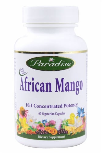 Paradise Herbs African Mango Vegetarian Capsules Perspective: front
