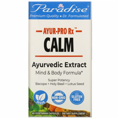 Paradise Herbs AYUR-Pro Rx Gluten Free Calm Vegetarian Capsules Perspective: front