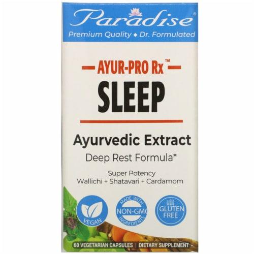 Paradise Herbs AYUR-Pro Rx Gluten Free Sleep Vegetarian Capsules Perspective: front