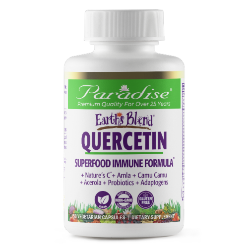 Paradise Earth's Blend Quercetin Superfood Immune Formula Capsules Perspective: front