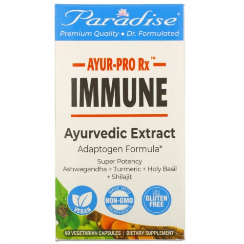 Paradise Herbs AYUR-Pro Rx Gluten Free Immune Vegetarian Capsules Perspective: front