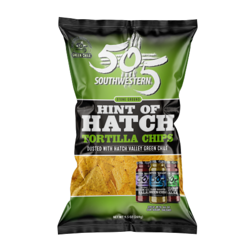 505 Southwestern Hint of Hatch Stone Ground Tortilla Chips Perspective: front