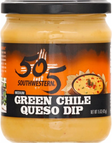 505 Southwestern Medium Green Chile Queso Dip Perspective: front