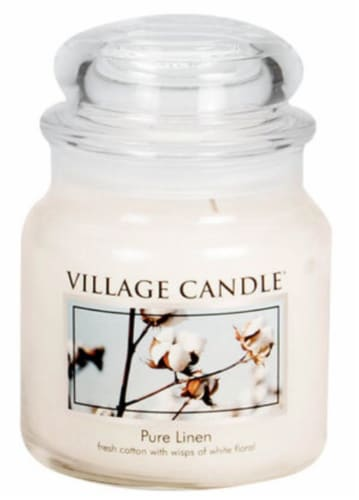 Village Candle® Pure Linen Jar Candle Perspective: front