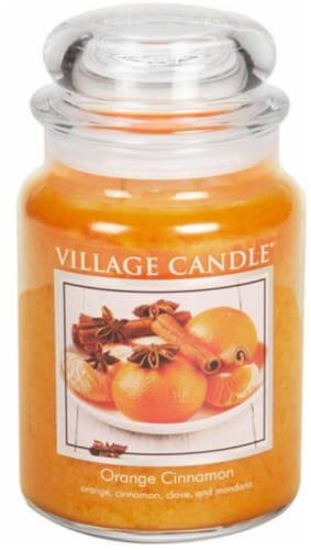 Village Candle Orange Cinnamon Jar Candle Perspective: front