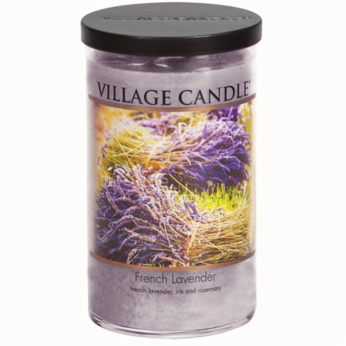 Village Candle French Lavender Candle - Purple Perspective: front