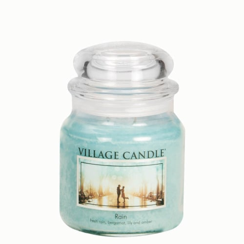 Village Candle Rain Scented Jar Candle - Green Perspective: front