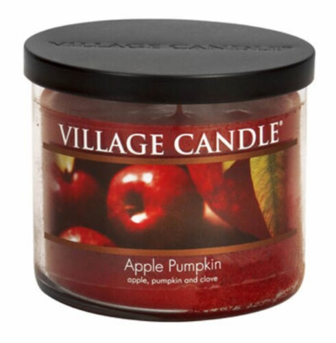 Village Candle® Apple Pumpkin Bowl Candle Perspective: front