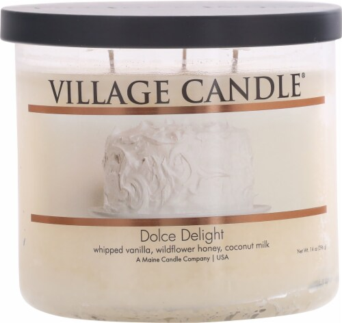 Village Candle® Bowl Dolce Delight Bowl Candle Perspective: front