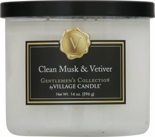 Village Candle Clean Musk & Veltiver Bowl Candle Perspective: front