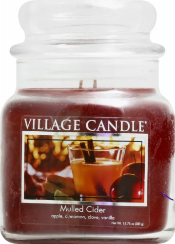 Village Candle Mulled Cider Jar Candle - Red Perspective: front