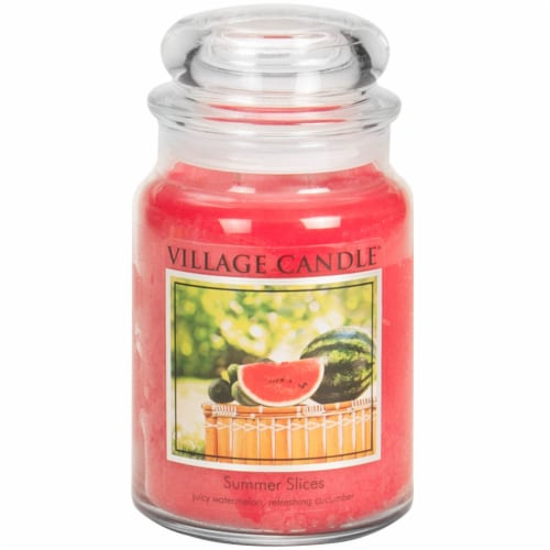 Village Candle Summer Slices Jar Candle Perspective: front